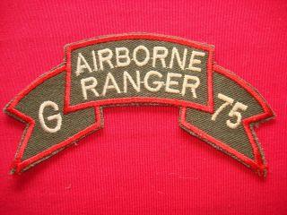 Company Airborne 75th Infantry Ranger Vietnam War Scroll Patch