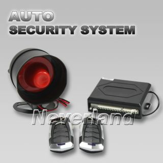 Remote Control Keyless Sensor Siren Entry Security Alarm System