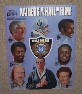 Vintage Oakland Raiders Hall Of Fame Poster Al Davis NFL AFL NEW