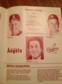 DODGERS BBWA BASEBALL WRITERS DINNER SOUVENIR PROGRAM AL MICHAELS MC