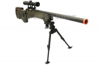 AGM L96 Bolt Action Airsoft Sniper Rifle OD Scope Bipod