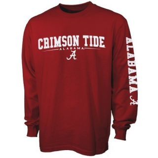 Alabama Crimson Tide Standard Crimson Long Sleeve T Shirt
