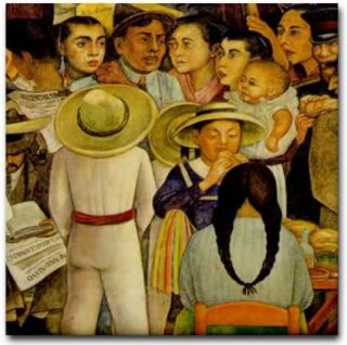 mexican artist diego rivera sunday at alameda park detail
