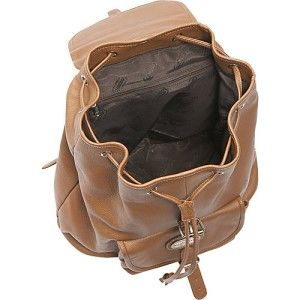 leatherbay large classic leather backpack tan