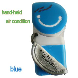 Mini Blue Portable Hand Held Air Conditioner Cooler Fan