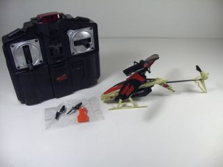 used Air Hogs RC Micro Havoc Heli Red & Tan LED Light Helicopter CH. B