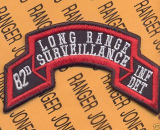 82nd Inf DET abn LRS Airborne Ranger Scroll Patch
