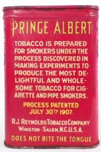 Vintage Prince Albert Cigarette Tobacco Tin Crimp Cut Long Burning