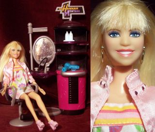 Disney Pop Star Hannah Montana Barbie Doll In Dressing Room