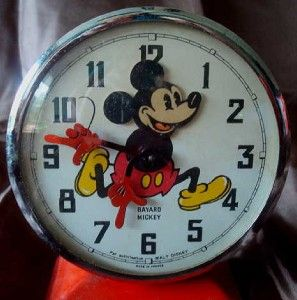 Vtg Walt Disney Mickey Mouse Alarm Clock by Bayard France
