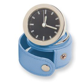 New Rowallan Multiple Color Leather Case Travel Alarm Clock