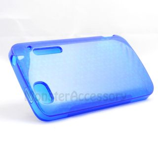 Blue Candy TPU Skin Case Cover for Alcatel Authority One Touch 960C