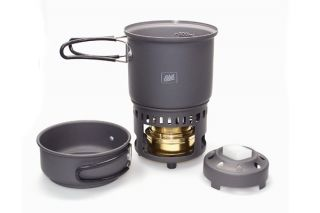 Esbit Alcohol Stove Trekking Cookset w Solid Fuel Option New