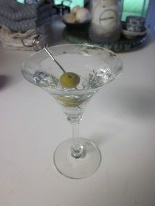 Martini Cocktail Glass, Heisey ALBEMARLE Crystal with Floral Cutting