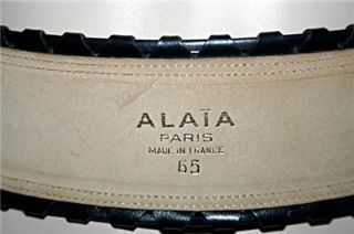 New Without Tags ~ Vintage ~ ALAIA   PARIS ~ Black Leather w