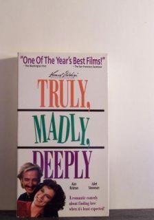 TRULY, MADLY, DEEPLY ~vhs oop~ Alan Rickman, Juliet Stevenson 1990
