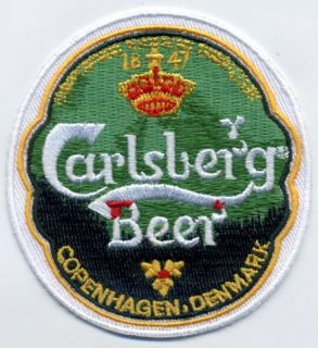 Carlsberg Beer Beverage Alcohol Drink Embroidered Patch