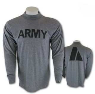 US Army Grey Army PT Long Sleeved T Shirt Small Nice