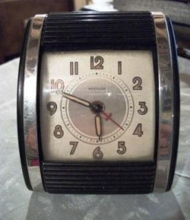 Mechanical Travalarm Westclock Alarm Clock Bakelite Canada Made