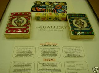 Rodo Boulanger Playing Cards Signed Lithograph Dice