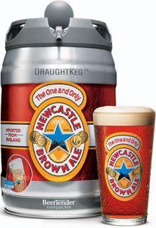 Fits 5L Heineken, Heineken Light or NewCastle Brown Ale Draught Kegs