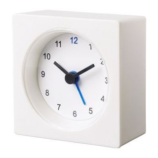 IKEA White Alarm Clock Light Traveling Powered by Battery