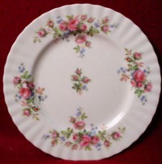 Royal Albert China Moss Rose pttrn Salad Plate Red
