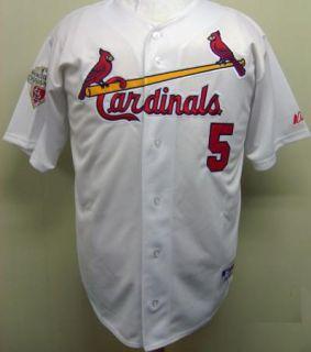 Albert Pujols St Louis Cardinals 5 2011 w s Champion Patch Home Jersey