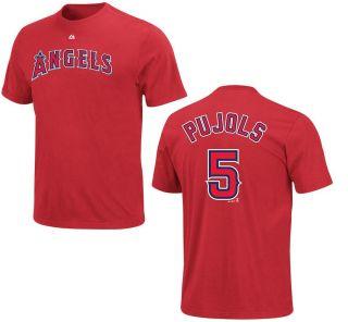 Los Angeles Angels Albert Pujols MENS Jersey T Shirt   PREORDER
