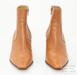 Coach Tan Leather Alexis Ankle Heel Boots Size 8 5