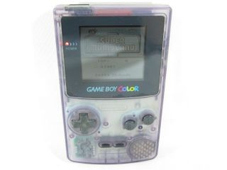 Nintendo Game Boy Color Console No Sounds CGB 001 Gameboy Clear Purple