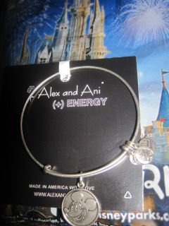 Alex and Ani Energy Disney Silver Expandable Mickey Mouse