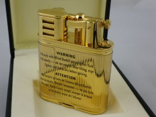 Alfred DunHill Lift arm lighter 18k gold plated New condition