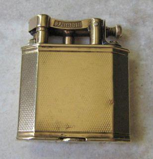 1925s Dunhill 9ct Gold Engine Turned Design Lighter