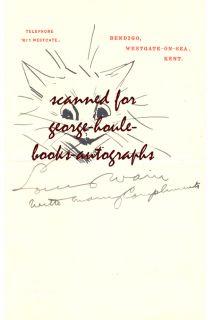 Louis Wain Original Pen and Ink Drawing Frisky Cat 1930