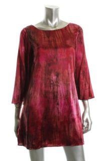 Alice Olivia New Sandra Red Silk Kimono Sleeve Short Cocktail Dress M