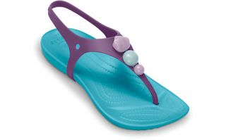 CROCS ALIANA GIRLS KIDS CASUAL STRAPPY SANDAL SHOES ALL SIZES
