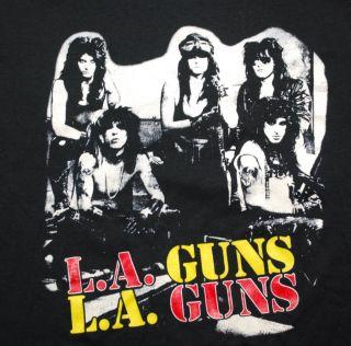 Vtg La Guns No Mercy Tour 88 T Shirt 1988 XL Original