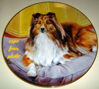 Ed Aldrich Shetland Sheepdogs Home Comforts Plate COA