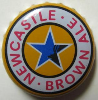 NEWCASTLE BROWN ALE Beer CROWN, Bottle Cap with Star, ENGLAND
