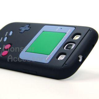 Game Boy Black Silicone Gel Case for Samsung Galaxy s 3 III Accessory