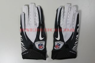Nike Vapor Jet Football NFL Receiver Gloves Black White New