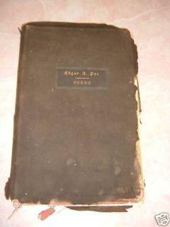 1901 EDGAR ALLAN POE POEMS LEATHER BOUND BOOK