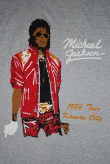 RARE Vintage Michael Jackson Victory Tour Shirt 1984 L