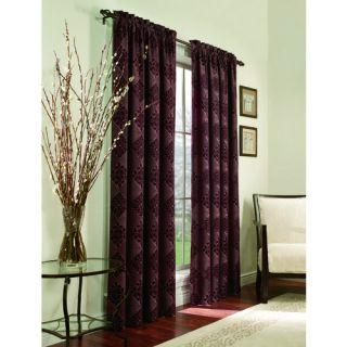 ALLEN ROTH ROSELLE Curtain Drape Rod Pocket Pole Top Window Panel PLUM