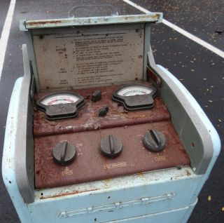 1960s Vintage Allen F260 Automotive Battery Tester