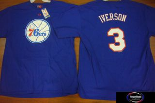 Majestic Hardwood Classic 76ers Allen Iverson Throwback Jersey Shirt