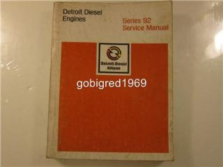 Detroit Diesel Engine Series 92 Allison Service Manual Lots More
