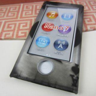 Vintage Skull Rubberized Hard Cover Case for New Apple iPod Nano 7 7g