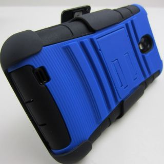Blue Rugged Impact Case Cover Holster for Samsung Galaxy S2 s II